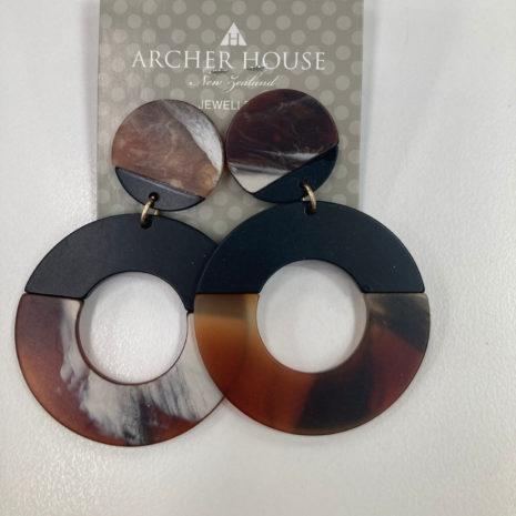 Acher Disc Hoop Earrings