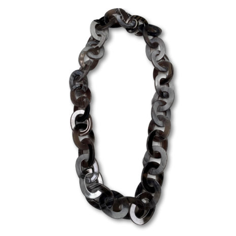 Archer Chunky Chain Necklace Black & Gray