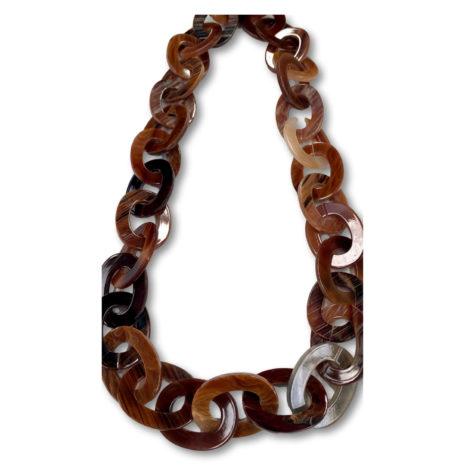 Archer Chunky Chain Necklace Dark Brown