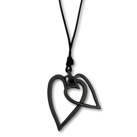 Archer Double Heart Necklace