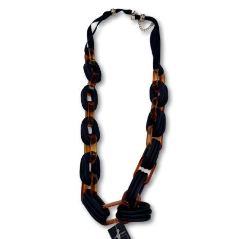Archer Matt Rectangular Corded Necklace